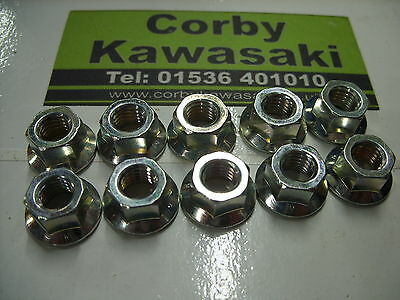 Kawasaki Kx80 Kx100 Kx85 Cylinder Head Barrel Nuts X10 Genuine