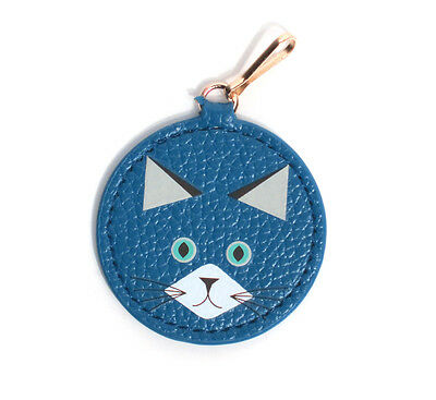 ESTEE LAUDER Blue Cat Charm for Bag/Zipper Pull/Key Faux Leather Clip On