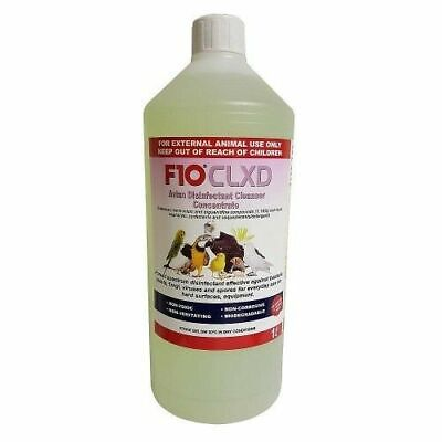 F10 CL XD Disinfectant 1L Concentrate Avian Bird Birds Cage Cleaner Pet Vet Safe