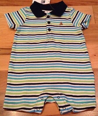 Baby Gap Boys Size 6-9 Months Striped Shorts Romper. Nwt