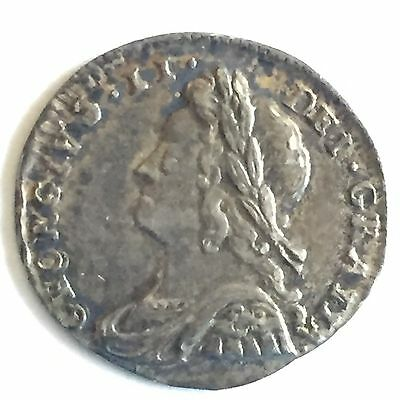 1732 Maundy Penny Choice Unc, George II Great Britain, UK, Washington Birth Year