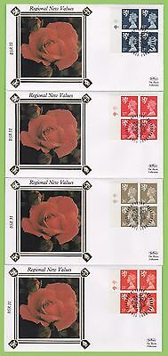 G.B. 1990 Scotland set of 4 plate block regionals on First Day Covers