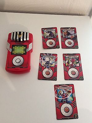 Digimon Red Fusion Loader Digivice Battle Electronic Game Sounds Work With Cards
