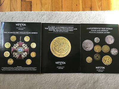 Three World Coins Medals, Currency Auction Catalogs - Spink January 2017