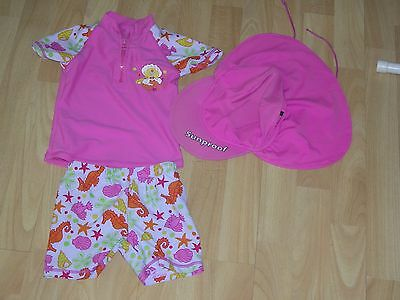 Sunproof  3-piece Sun protection clothing UPF 50+   Pink, 18months