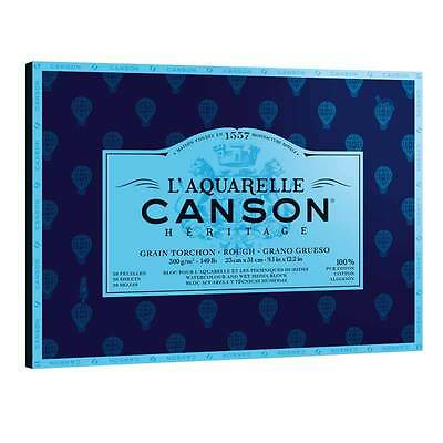 Canson Heritage Watercolour Painting Pad 12 Sheets 300gsm 26 x 36 cm