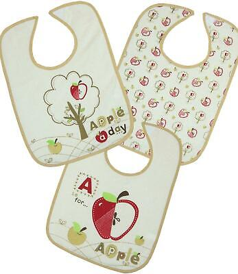 BabyPrem Pack of 3 Baby Boys Girls Large Bibs Feeding Weaning Dribble Bib