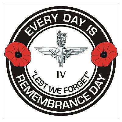 4 Para 4th Bn The Parachute Regiment classic Remembrance day Regimental Sticker