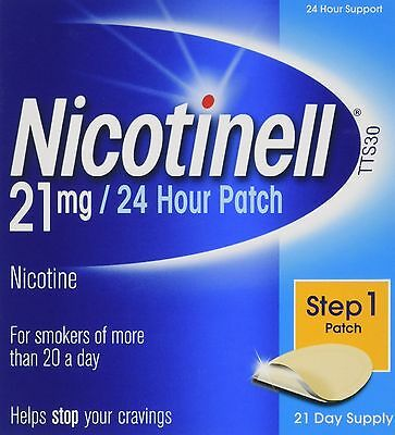 Nicotinell Nicotine 24 Hour Patch 21 mg 21 Day Supply NEW