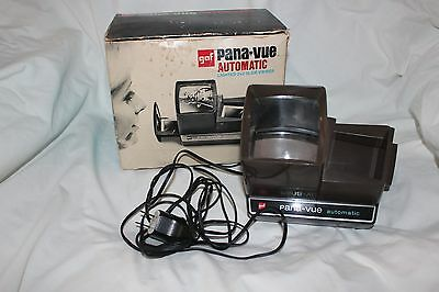 Vintage GAF Pana-Vue Automatic Lighted 2x2 Slide Viewer in Original Box