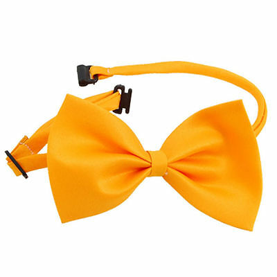 Noeud Papillon Pour Chien/Chat - Satin Jaune Orange - 100 % Polyester - 10 x 6cm