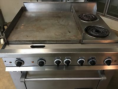 "Garland Electric Commercial Range w/ 24"" Griddle, 2 Burners &  Full Size Oven"