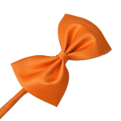 Noeud Papillon Pour Chien/Chat - Satin Orange - 100 % Polyester - 10 x 6cm
