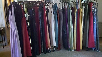 Large 37 piece vintage/name brand, pre-owned Formal Gown lot