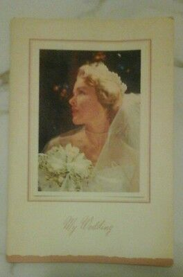 My Wedding Planning Book Vintage 1952
