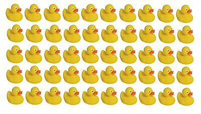 50pcs Mini Rubber Sound Ducks For Baby Bathing Water Toy Party Favor Ducky Toys