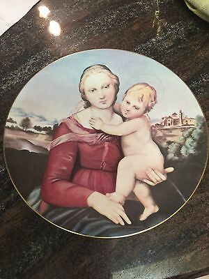 "Limoges  10"" Plate Madonna And Child By Raphael"