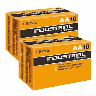 20 x Industrial By Duracell AA PC1500 LR6 Batteries