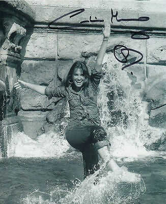 Caroline Munro In Person Signed Photo - In the Trevi Fountain in Rome - AG134