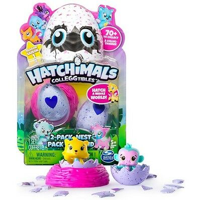 HATCHIMALS COLLEGGTIBLES 2 Pack + Nest    Hatchimals Ei Colleggt