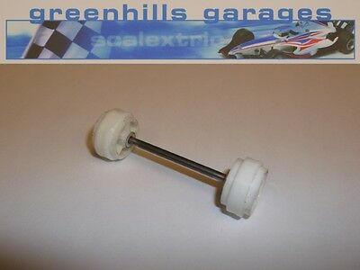 Greenhills Scalextric Renault Megane Front Axle & Wheels Used – P2513
