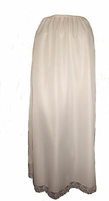 "Cream Maxi Half Slip 37"" Inches Size 16/18 Cling Resist Full Length Underskirt"