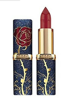 Loreal Beauty and the Beast Rose Lipstick Disney Red Pink Lipstick Princess