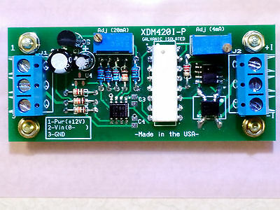 Optical Isolated (0-10V/4-20mA) Passive-Powered Loop Converter Module