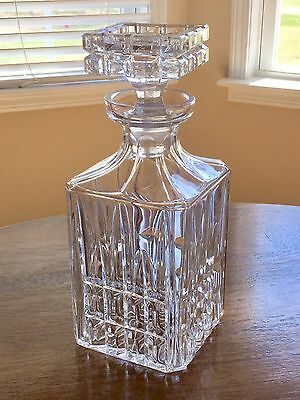 Gorgeous Vintage Crystal Decanter With Heavy Block Matching Stopper