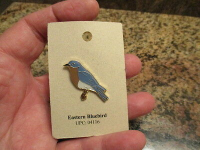 Eastern Bluebird Tack Pin NATURE'S CHARMS NEW ON CARD VHTF