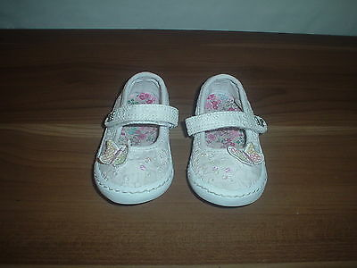 Baby girls NEXT Shoes, Pink canvas, butterfly, velcro, size UK 4 infant