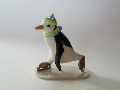 Retired Hagen-Renaker Skating Penguin Adorable Mint Condition