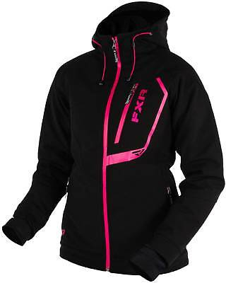 New FXR-Snow Vertical Pro Softshell Zip-Up Womens Waterproof Jacket,Black,Size-6