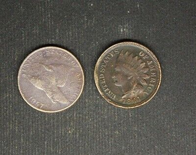 Flying Eagle Cent 1857 / Indian Head Penny 1864 Copper Nickel .........5.15.20