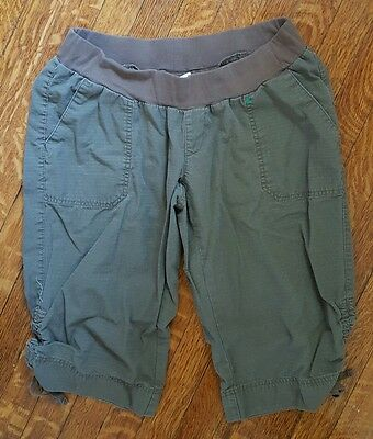 Oh Baby By Motherhood Maternity Brown Cropped Capris Size L EUC Rugged