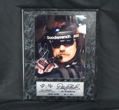 Dale Earnhardt Autograph Signed Limited Edition Photo Plaque 587 of 1000 w/COA!