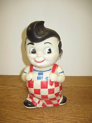 Vintage Big Boy Collectible Plastic Rubber Money Coin Piggy Bank