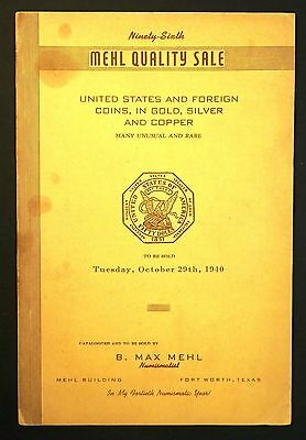 1940 Mehl Catalog - US & Foreign Gold, Silver & Copper