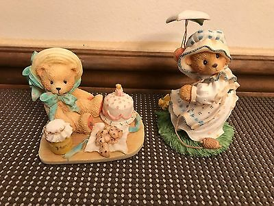 "Set of 2 ~ Enesco Cherished Teddies: ""ANNA"" & ""MEGAN""  #950459, 203300 (Lot 4)"