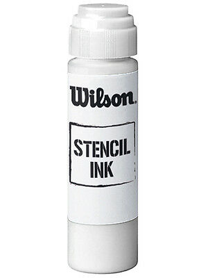 Wilson Super Stencil Ink - White - For All Racket Strings - Free P&P