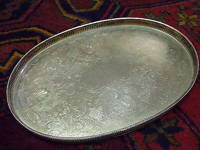 Silver Plate on Copper Mappin & Webb Oval Gallery Tray