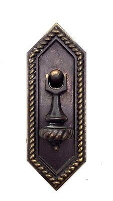 Bronze Antique Hardware Drawer Pull Teardrop MCM Mid Century Modern Cabinet Knob
