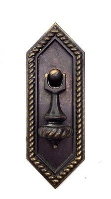 Bronze Brass Antique Hardware Drawer Pull Teardrop MCM Cabinet Knob