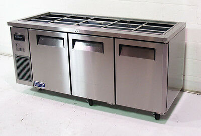 """Used Turbo Air 72"""" Refrigerated Buffet Display Table Stainless w/ Casters - JBT-"""