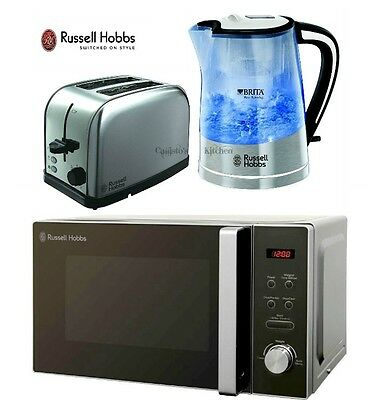 Microwave Kettle and Toaster Set Russell Hobbs Filter Kettle 2-Slot Toaster New