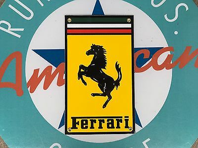 top quality FERRARI motor company PORCELAIN coated 18 GAUGE steel SIGN