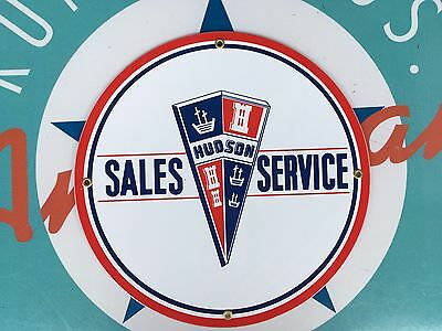 top quality HUDSON sales service PORCELAIN coated 18 GAUGE steel SIGN