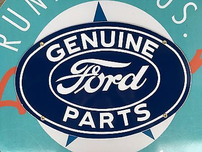 top quality FORD genuine PARTS porcelain coated 18 GAUGE steel SIGN