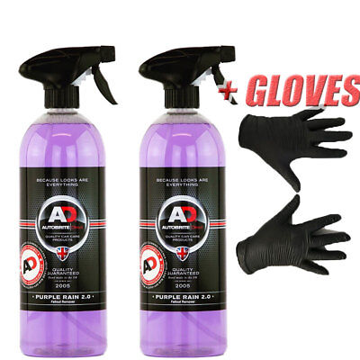 Autobrite Direct 1000ml Purple Rain, Iron Decontamination Fallout Remove 2x500ml