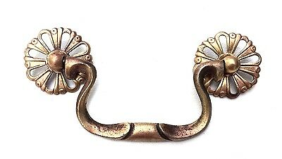"French Provincial Chippendale Antique Hardware Brass Drawer Pull 3 1/2"" centers"